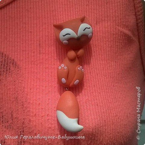 Лисичка из полимерной глины с болтающимся хвостиком))))))))) Вдохновлялась лисичками автора @evrizclay (ник в инстаграм) фото 3