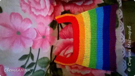 Давно мечтала связать доченьке кофточку в цвет радуги и наконец-то получилось осуществить желаемое фото 8