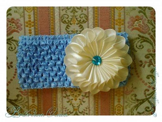 Добрый день, вот такие повязочки я сделала для племяшки. 1-я роза по МК Людмилы, не устаю ее благодарить за этот МК. Людочка, спасибо большое розочки получаются чудесные. http://stranamasterov.ru/node/713487?c=favorite  фото 9