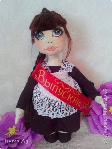 текстильная куколка КИРЮША!!!!Полностью ручная работа!!!Рост 45см,волосики можно расчесывать и делать разные прически.Личико расписано акриловыми красками и пастелью фото 12
