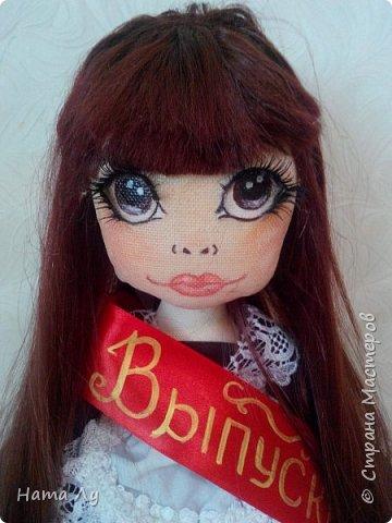 текстильная куколка КИРЮША!!!!Полностью ручная работа!!!Рост 45см,волосики можно расчесывать и делать разные прически.Личико расписано акриловыми красками и пастелью фото 14