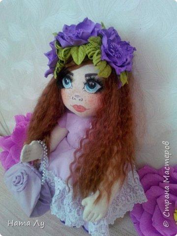 текстильная куколка КИРЮША!!!!Полностью ручная работа!!!Рост 45см,волосики можно расчесывать и делать разные прически.Личико расписано акриловыми красками и пастелью фото 8