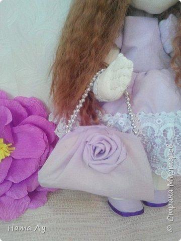 текстильная куколка КИРЮША!!!!Полностью ручная работа!!!Рост 45см,волосики можно расчесывать и делать разные прически.Личико расписано акриловыми красками и пастелью фото 10