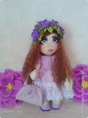 текстильная куколка КИРЮША!!!!Полностью ручная работа!!!Рост 45см,волосики можно расчесывать и делать разные прически.Личико расписано акриловыми красками и пастелью фото 7
