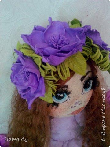 текстильная куколка КИРЮША!!!!Полностью ручная работа!!!Рост 45см,волосики можно расчесывать и делать разные прически.Личико расписано акриловыми красками и пастелью фото 11