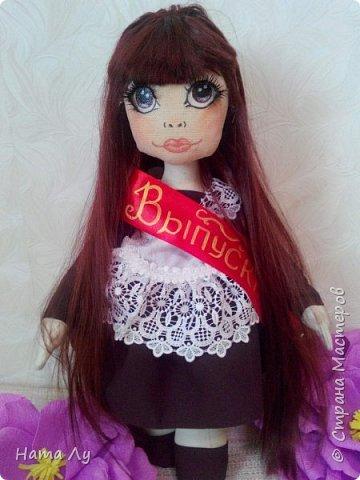 текстильная куколка КИРЮША!!!!Полностью ручная работа!!!Рост 45см,волосики можно расчесывать и делать разные прически.Личико расписано акриловыми красками и пастелью фото 13