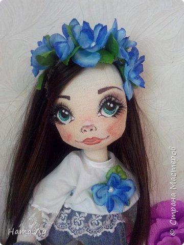 текстильная куколка КИРЮША!!!!Полностью ручная работа!!!Рост 45см,волосики можно расчесывать и делать разные прически.Личико расписано акриловыми красками и пастелью фото 1