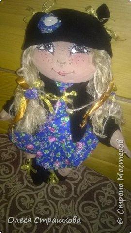 """""""Создав хотя бы одну куколку не возможно остановиться"""" . Мои девочки продолжают появляться на свет. Новенькая текстильная девочка. """"Джульетта"""", совсем не капризная. 35см. Стоит с опорой , не сидит. фото 8"""