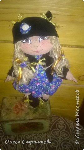"""""""Создав хотя бы одну куколку не возможно остановиться"""" . Мои девочки продолжают появляться на свет. Новенькая текстильная девочка. """"Джульетта"""", совсем не капризная. 35см. Стоит с опорой , не сидит. фото 1"""