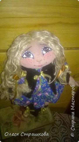 """""""Создав хотя бы одну куколку не возможно остановиться"""" . Мои девочки продолжают появляться на свет. Новенькая текстильная девочка. """"Джульетта"""", совсем не капризная. 35см. Стоит с опорой , не сидит. фото 6"""