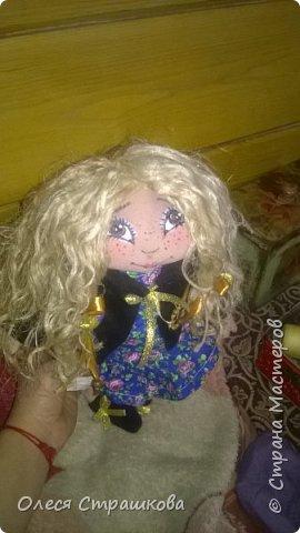"""""""Создав хотя бы одну куколку не возможно остановиться"""" . Мои девочки продолжают появляться на свет. Новенькая текстильная девочка. """"Джульетта"""", совсем не капризная. 35см. Стоит с опорой , не сидит. фото 10"""