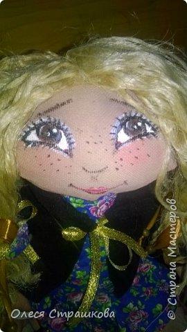 """""""Создав хотя бы одну куколку не возможно остановиться"""" . Мои девочки продолжают появляться на свет. Новенькая текстильная девочка. """"Джульетта"""", совсем не капризная. 35см. Стоит с опорой , не сидит. фото 9"""