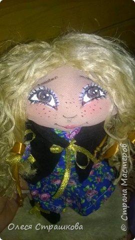 """""""Создав хотя бы одну куколку не возможно остановиться"""" . Мои девочки продолжают появляться на свет. Новенькая текстильная девочка. """"Джульетта"""", совсем не капризная. 35см. Стоит с опорой , не сидит. фото 7"""