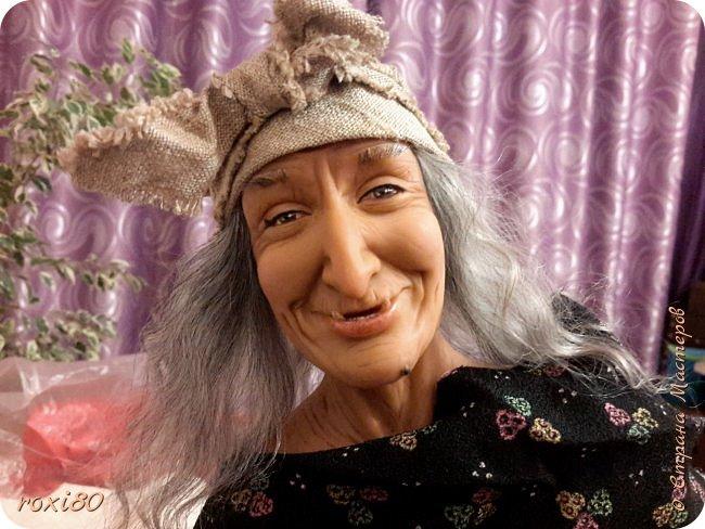 Здравствуйте, дорогие друзья и гости! Вот и моя бабуся-Ягуся. Я от нее в востоге, она как живая смотрит ) Лепила из Ливингдолл, а туловище как всегда мягко-набивное. фото 6
