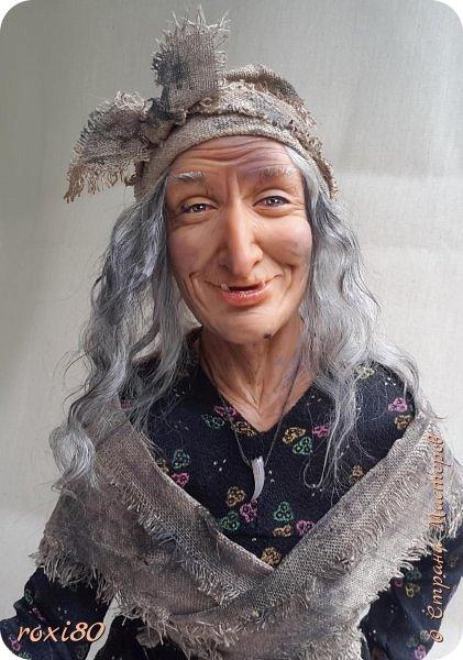 Здравствуйте, дорогие друзья и гости! Вот и моя бабуся-Ягуся. Я от нее в востоге, она как живая смотрит ) Лепила из Ливингдолл, а туловище как всегда мягко-набивное. фото 2