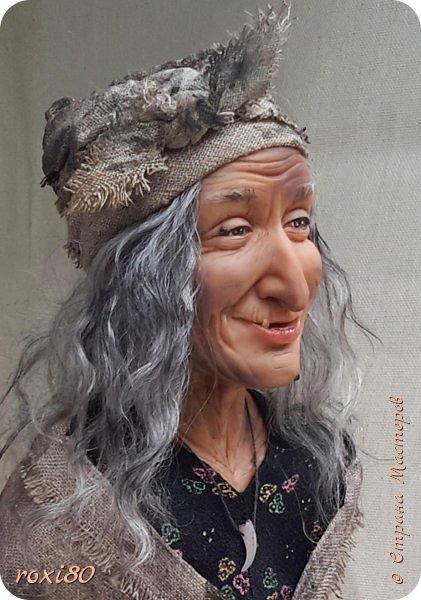 Здравствуйте, дорогие друзья и гости! Вот и моя бабуся-Ягуся. Я от нее в востоге, она как живая смотрит ) Лепила из Ливингдолл, а туловище как всегда мягко-набивное. фото 3