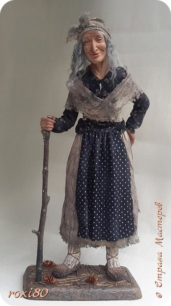 Здравствуйте, дорогие друзья и гости! Вот и моя бабуся-Ягуся. Я от нее в востоге, она как живая смотрит ) Лепила из Ливингдолл, а туловище как всегда мягко-набивное. фото 4