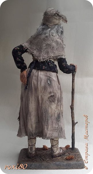 Здравствуйте, дорогие друзья и гости! Вот и моя бабуся-Ягуся. Я от нее в востоге, она как живая смотрит ) Лепила из Ливингдолл, а туловище как всегда мягко-набивное. фото 5