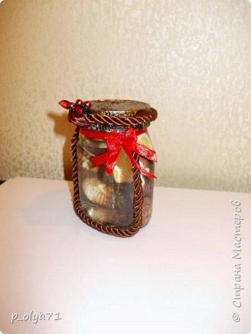 Здравствуйте!!  Думала,за бутылочки пока не возьмусь,но... нужно было сделать подарок,нашлась банка кофе...ну а уж салфетки,само собой,припасены)) А т.к. я не люблю делать по одной,набралось вот)) фото 15