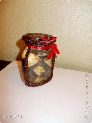 Здравствуйте!!  Думала,за бутылочки пока не возьмусь,но... нужно было сделать подарок,нашлась банка кофе...ну а уж салфетки,само собой,припасены)) А т.к. я не люблю делать по одной,набралось вот)) фото 14