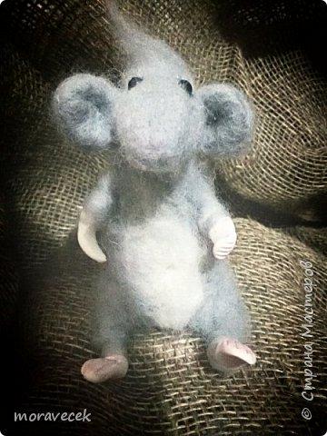 Мышь - сухое валяние. Первая работа)) фото 1