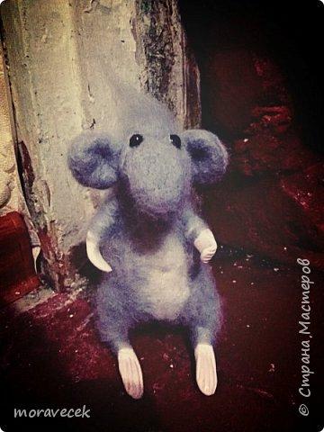 Мышь - сухое валяние. Первая работа)) фото 2