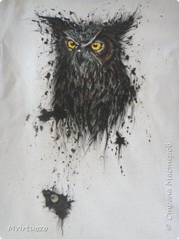 На просторах интернета нашла великолепные рисунки хорватского художника Dino Tomic (AtomiccircuS).  Вау!! только и могла сказать я и, захомячив эдакую красоту, принялась приобщаться, точнее сказать - повторюшничать. Вот что получилось: Сова! (или филин..) фото 9