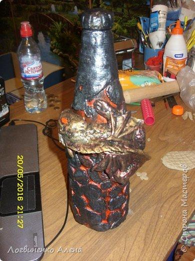 Декор бутылки фото 6
