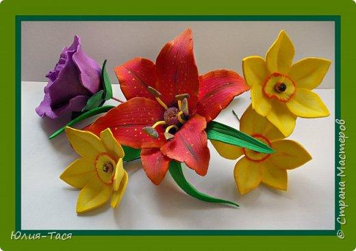 Учусь делать цветы из фома фото 3