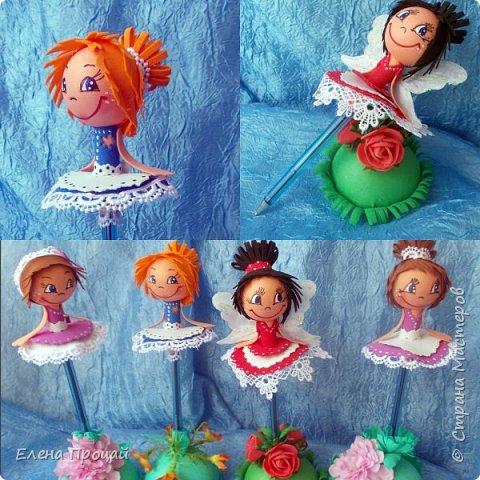 забавные куколки из фома по мк Е. Романовай  фото 2