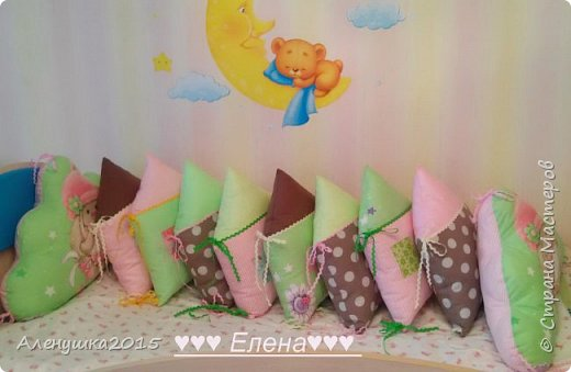 Бортики-домики в детскую кроватку  фото 2