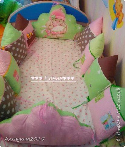 Бортики-домики в детскую кроватку  фото 3