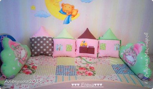 Бортики-домики в детскую кроватку  фото 1