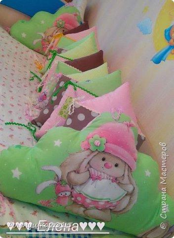 Бортики-домики в детскую кроватку  фото 4