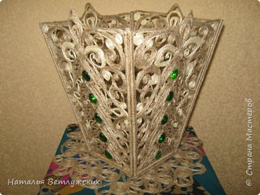 Новая джутовая  ваза. фото 1