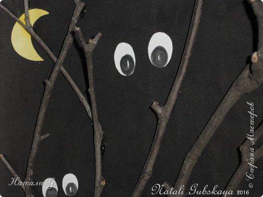 """Картина для Хеллоуина  """"Страшный  лес"""" фото 3"""