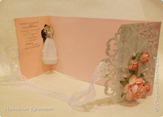 На свадьбу друзьям детей. Попросили сделать открытку в зеленых тонах. фото 7