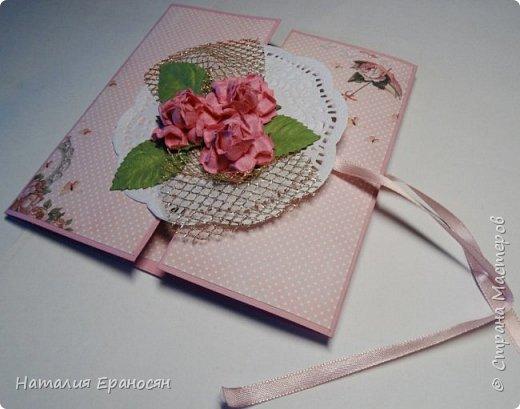 На свадьбу друзьям детей. Попросили сделать открытку в зеленых тонах. фото 12