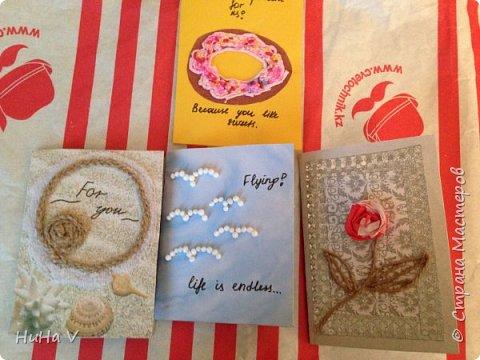 Добрый день, дорогие Мастара! Представляю вашему вниманию детские работы-открыточки , выполненные в смешанной технике. фото 2