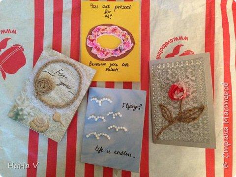 Добрый день, дорогие Мастара! Представляю вашему вниманию детские работы-открыточки , выполненные в смешанной технике. фото 5