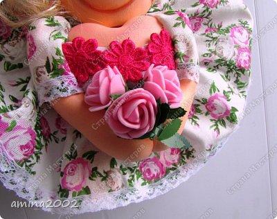 """Добрый день! Кукла """"Удача"""" (попик), по МК Е.Лаврентьевой, только из фоамирана. фото 3"""