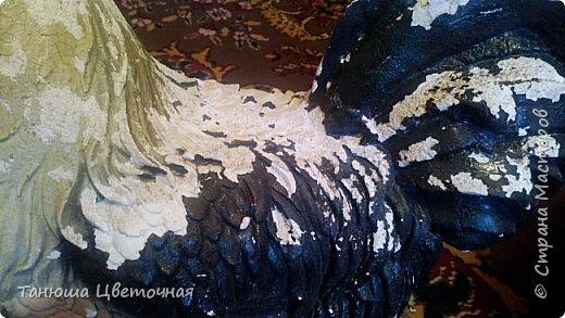Благодаря нашему дорогому Ежику http://stranamasterov.ru/user/317674 теперь и мои зверюшки стали оживать.Спасибо Ёжик Женя за твои работы!!!!!!! Петушок был собственно говоря не совсем плох,но я не стала дожидаться плачевного состояния.Сколы загипсовала,раскрасила гуашью и лаком покрыла,готово!Петушок прямо помолодел на глазах))))А главное мама одобрила,т.к.это ей дарили его когда-то)))! фото 3