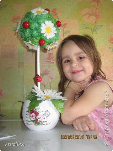 Переделка моего второго топиария. Моя доча - помощница Василиса)  фото 1