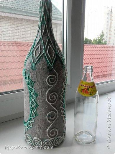 Приветствую вас жители, этой прекрасной страны.Вот подготовила я бутылочку к выставке. На фото глава администрации того селения где будет выстовка. фото 4