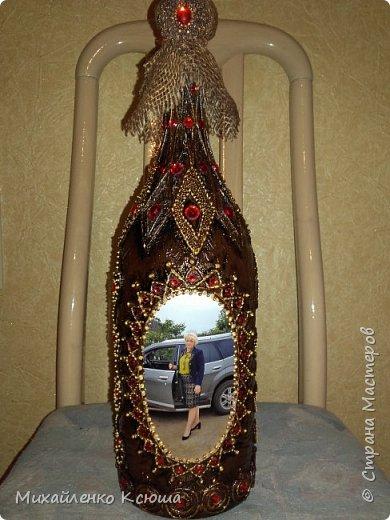 Приветствую вас жители, этой прекрасной страны.Вот подготовила я бутылочку к выставке. На фото глава администрации того селения где будет выстовка. фото 1