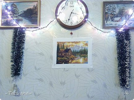 "Набор Алиса ""Вечер в горах"", Размер готовой работы 33 см. на 24 см. , в крестиках - 184 * 132, канва №14, нитки Гамма. фото 2"