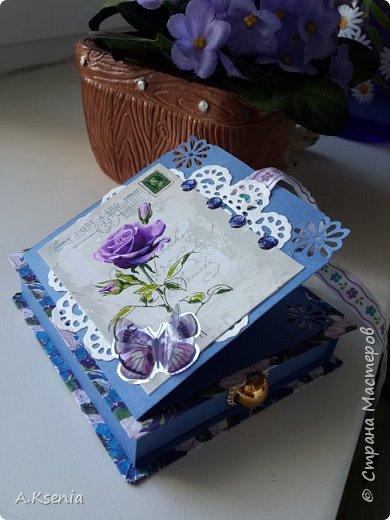 Вот такая коробочка-книжка в женском варианте у меня получилась на днях. фото 7
