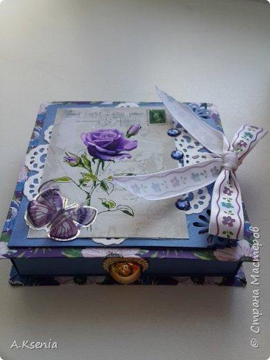 Вот такая коробочка-книжка в женском варианте у меня получилась на днях. фото 6