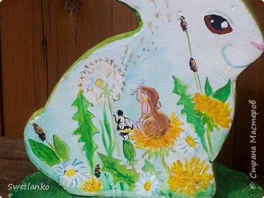 Весна на исходе, а я к вам со своими запоздалыми работами. Фотограф из меня никудышный, ну уж как получилось:-)   Вот такая поставка для пасхальных яиц, повторюшка идеи https://stranamasterov.ru/node/580950. фото 5