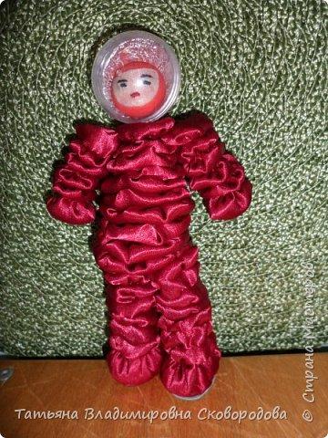 Мастер - класс «Изготовление космонавта из тканевых дисков» (Композиция «Тропой Гагарина») фото 35